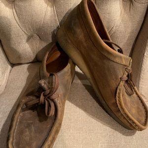 Clark originals wallabee brown leather women's 9